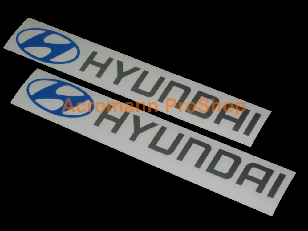 Hyundai 6inch Decal x 2 pcs